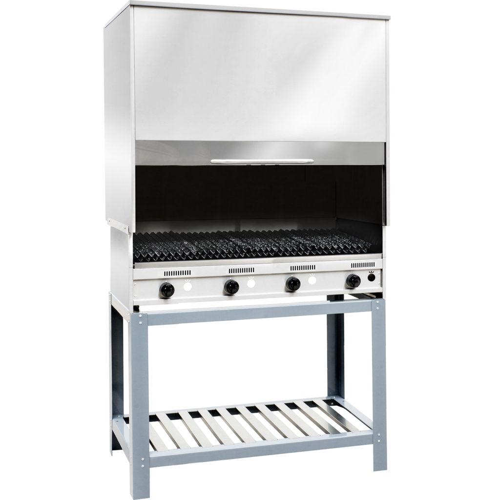 Parrilla semi industrial a gas con campana Cook and Food - Corbelli